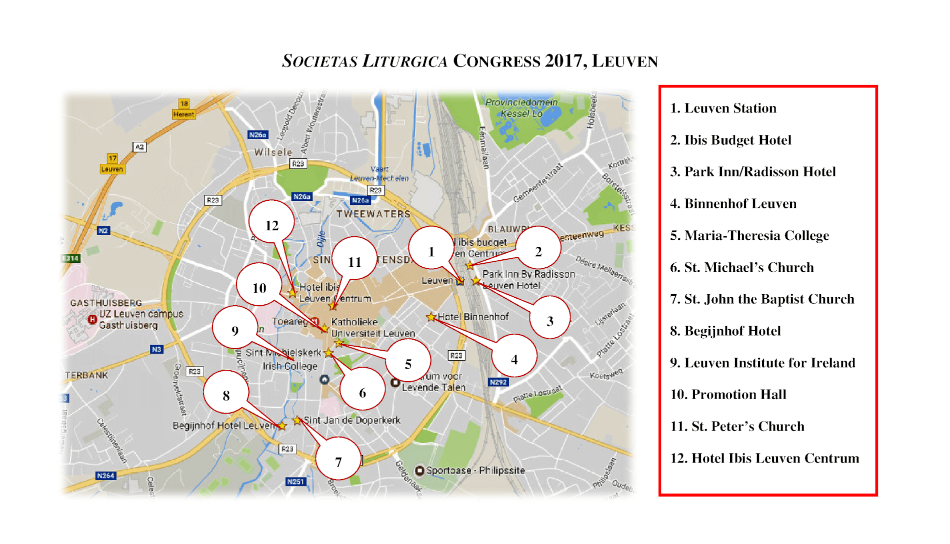 Leuven Belgium SOCIETAS LITURGICA